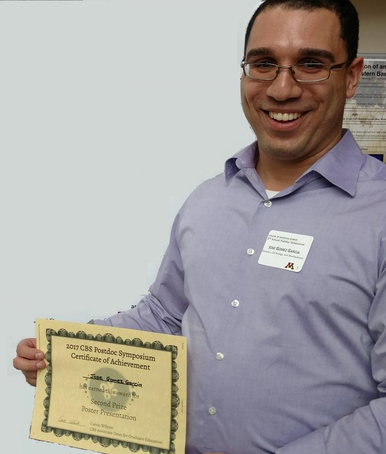 Dr. Jose Gomez-Garcia wins poster prize!